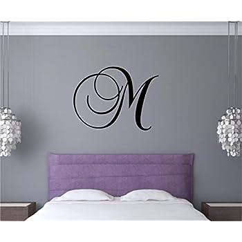 Enchantingly Elegant Custom Monogram Letter Vinyl Decal Wall Sticker Art Words Letters Lettering Home Dorm Room Decor 22x17  sc 1 st  Amazon.com & Amazon.com: Custom Monogram Vine Vinyl Wall Sticker Decal Decor ...