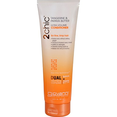 Giovanni 2chic Collection Ultra-Volume Conditioner 8.5 fl. oz. Tangerine & Papaya Butter Ultra-Volume Hair Care 8.5 fl. oz, - Single Item