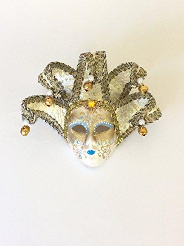 Ceramic Wall Mask (White Jollini Miniature Ceramic Venetian Mask)