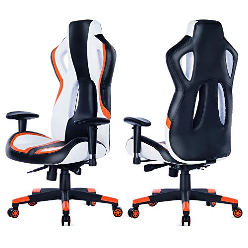 Strange Healgen Gaming Chair Racing Style High Back Pu Leather Reclining Office Chair Pc Desk Chair Executive And Ergonomic Swivel Chairs Gm907 Orange Gmtry Best Dining Table And Chair Ideas Images Gmtryco