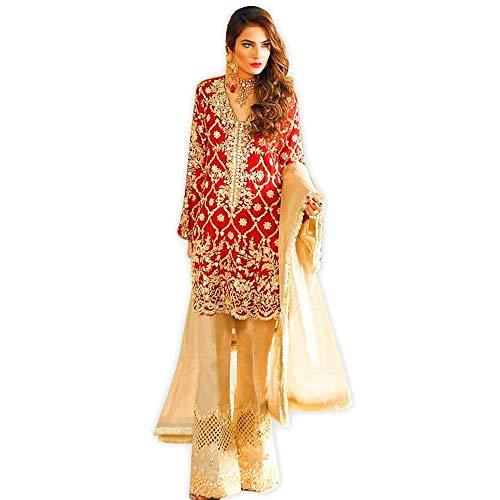 Pakistani Indian Ethnic Designer Bollywood Style Embroidered Salwar Kameez for Women Party wear Wedding ()