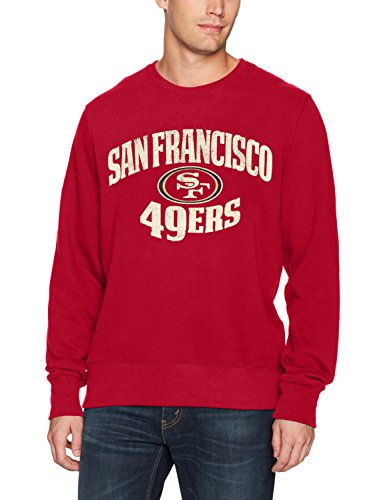 NFL San Francisco 49ers Men's OTS Fleece Crew, Distressed Marbleton, Large (Best Interior Designers San Francisco)