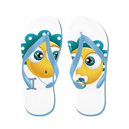 Virkelig Teague Menns Smileyface Stjernetegn Tvillingene Gummi Flip Flops Sandaler Caribbean Blue