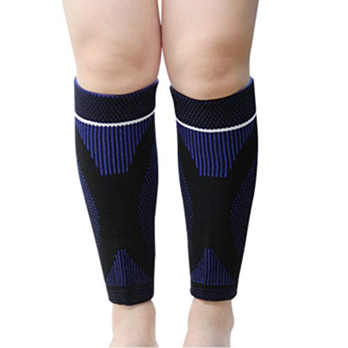 youeneom Calf Compression Sleeves | One Pair | Best Footless Compression Socks for Shin Splint & Leg Pain Relief, Running, Nurses & Maternity. Improves Circulation and Recovery. (M, - Footless Cuff Tights