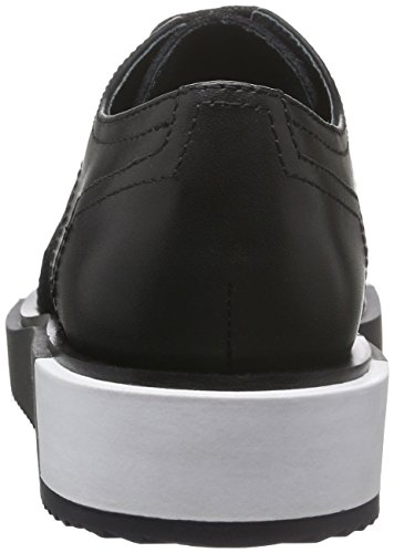 Lo de United Derby Mujer Cordones Negro Zapatos negro Wing para Nude Geo qqSXt