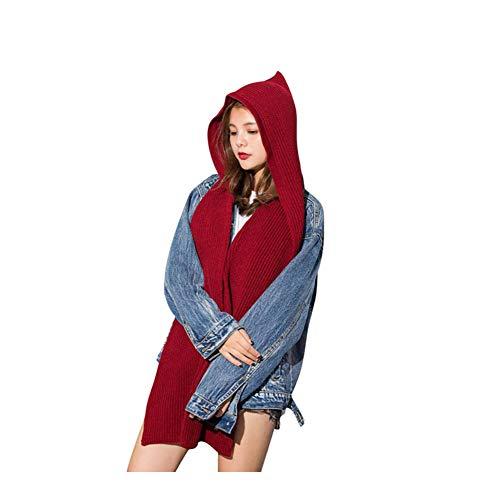 - Women's Winter Hooded Hat Scarves Warm Hoodies Scarf for Lady Winter Warm Muffler Wrap Shawl Crochet Knitting hooded scarf