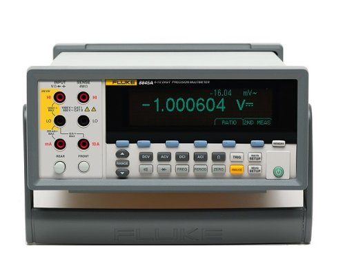 Fluke 8845A 120V 6.5 Dual Digital Display Precision Multimeter, 35 PPM, 0.0035 Percent Accuracy, 100 pA Resolution, Includes ISO 17025 Accredited Certificate of - Certificate Resolution