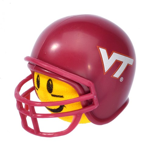Antenna Balls Quantity 3 pc pack - Virginia Tech Hokies College Football Car Antenna Topper Rear View Mirror Dangler - Mirror Hanger (Yellow Face) Auto Accessory