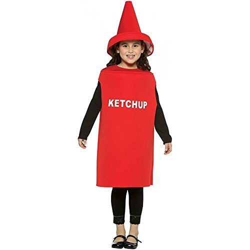 Rasta Imposta Lightweight Ketchup Children's Costume, 7-10, (Ketchup Child Costumes)