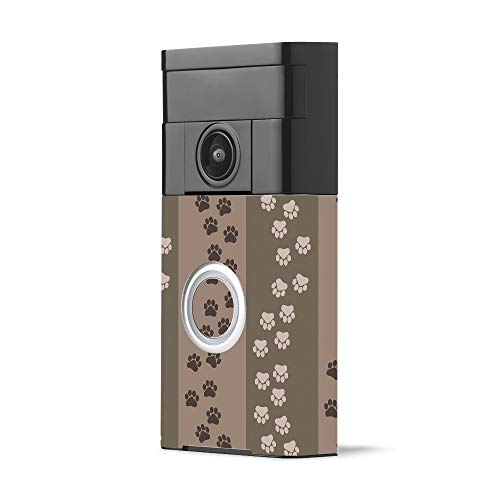 MightySkins Skin Compatible with Ring Video Doorbell - Paw Prints | Protective, Durable, and Unique Vinyl Decal wrap Cover | Easy to Apply, Remove, and Change Styles | Made in The USA