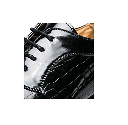 Fondo Cintura Cotone Morbida Scarpe Black Abiti Fibbia Uomo da con in Indossano Cerimonia A Piatto Fibbia con con Punta Indossano Una da zmlsc RUFWPW
