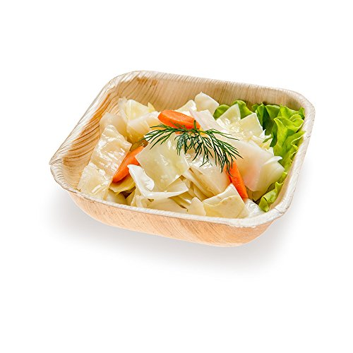 Palm Leaf Bowl, Salad Bowl - Square Palm Bowl - Biodegradable, Disposable - 5.5 Inch, 18 Ounce - 100ct Box - Restaurantware