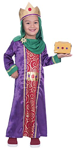 Boys Wise Man With Gift Nativity King Christmas School Play Bible Story Festive Xmas Fancy Dress Costume Outfit 3-12 Years (7-8 Years)