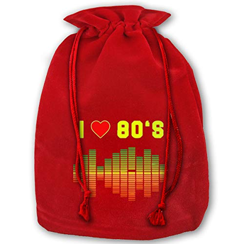 XHX I Love 80s Music Rock Equalizer Love Eighties Easy Gift Wrapping for The Holidays Bag