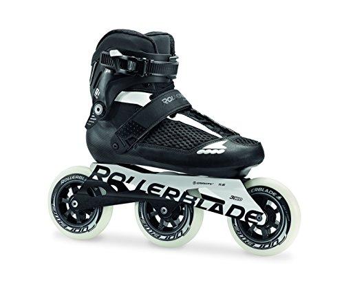 Rollerblade Endurace 110 Unisex Adult Fitness Inline Skate, Black White, High Performance Inline Skates, US Size 13