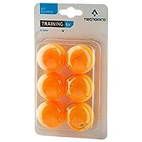 Tecnopro Tischtennis-Ball 1-Stern Training Tischtennisball, Orange, One Size