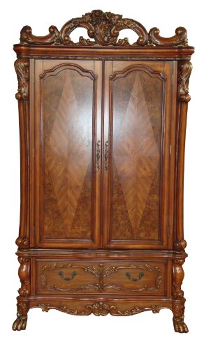 ACME 12147 Dresden TV Armoire, Cherry Oak Finish (Armoires For Tv)
