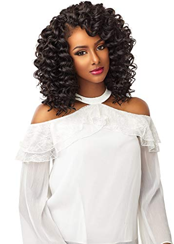[3Packs Deal] Sensationnel Lulutress Crochet Braiding Hair Extension - 2X DEEP WAVE 8 (T1B/30 [T:Off Black, B:Light Auburn])