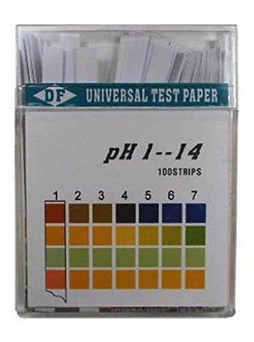 Plastic 1-14 pH Test Strips Universal Application 100 strips Diagnostic Grade (Diagnostic Grade Test)