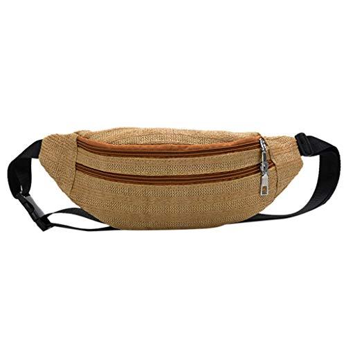 - Dainzuy Crossbody Straw Bag, Womens Retro Handbag Shoulder Beach Travel Zipper Messenger Bags Chest Bag Waist Bag Yellow