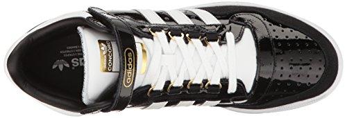 Adidas Originali Mens Concord Ii Sneaker Mid Fashion Nero / Bianco / Metallizzato / Oro