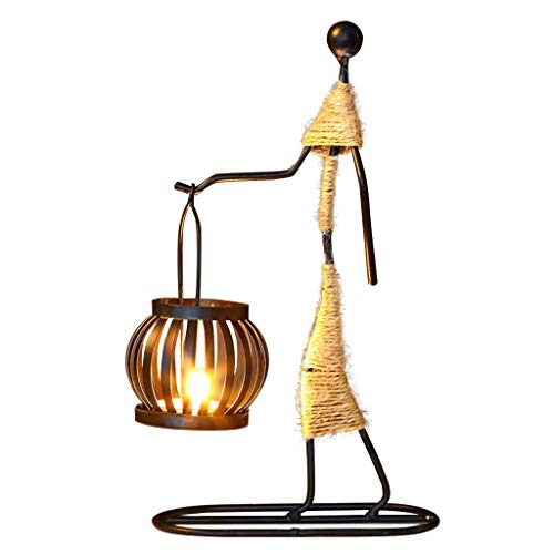 Wrought Iron Candle Holders Ornaments Coffee Shop Props Romantic Candlelight Dinner Home Creative Candlestick (Size : B)