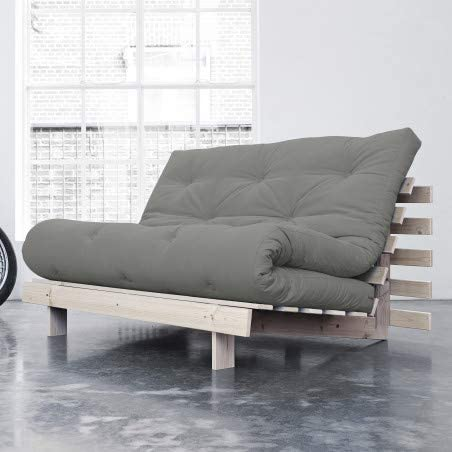 Alfred & Compagnie Anouk - Sofá Convertible y futón (140 x 200 cm), Color Beige: Amazon.es: Hogar