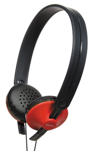 Panasonic RPHX35R Lightweight Headphone Red (Discontinued by Manufacturer) (Super Panasonic Lightweight Headphones)