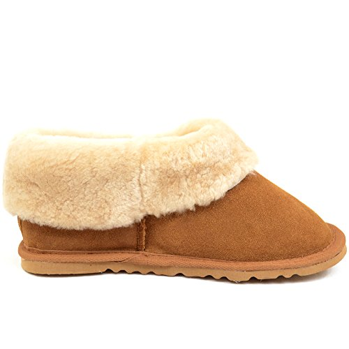 Sheepskin Shoes boots Sole Light Brown Flexible Wide Ladies Yet With Lightweight Sturdy waBxqw5Tr