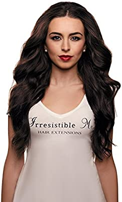 IRRESISTIBLE ME – Clip in Hair Extensions Chocolate Brown (Color #2) - 100% Natural Remy (Remi) Human Real Hair – Straight Silky Touch – Clips Pieces Full ...