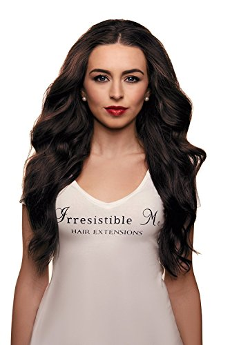 IRRESISTIBLE ME - Clip in Hair Extensions Chocolate Brown (#2) 100% Natural Remy (Remi) Human Real Hair - Straight Silky Touch - Clips Pieces Full Head Set - Different Weight (Grams) and Length (Inch) (Human Hair Extensions 200g)