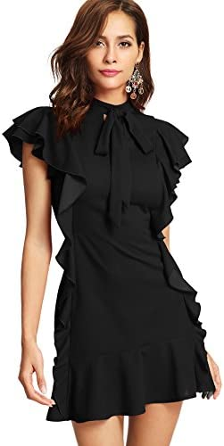 Floerns Womens Sleeve Ruffle Cocktail product image