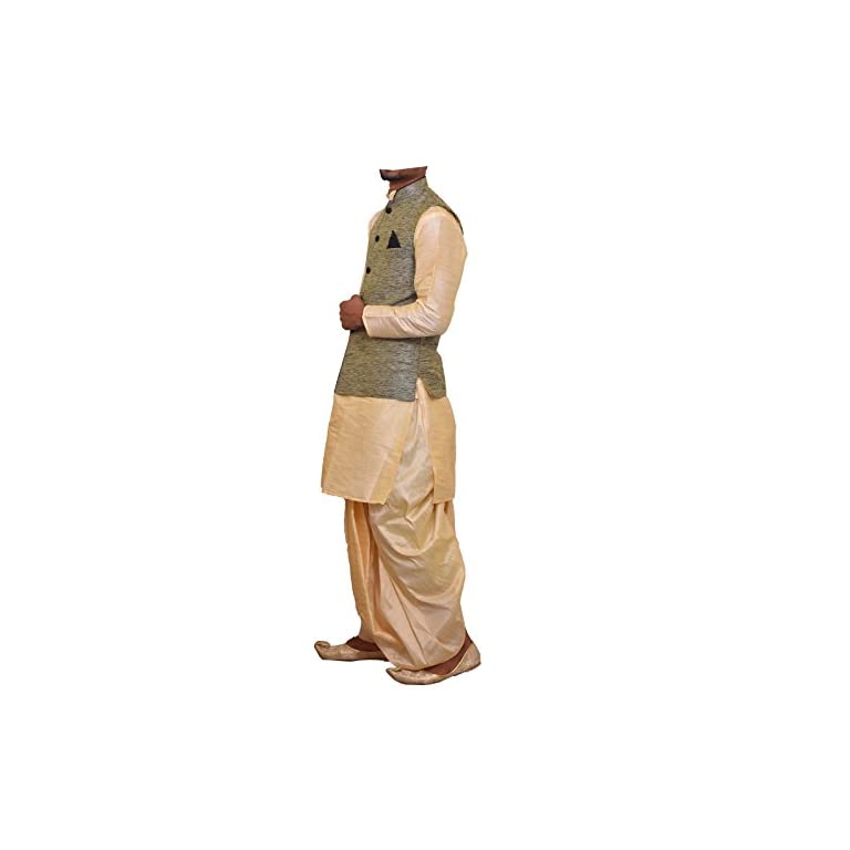 41B dpaFiUL. SS768  - Modern Garments Men Dhoti Kurta with Waistcoat