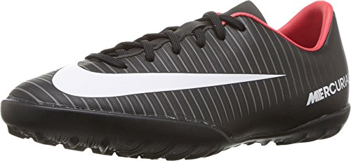 Nike Youth Soccer MercurialX Vapor XI Turf Shoes (1 Little Kid M, Black/White/Red) (Youth Tf Cleats)