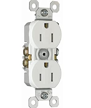 Pass & Seymour 3232Tr-W 15A 125V Tamper Resistant Receptacle, White (Box Of 10)