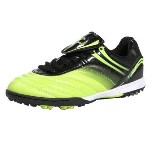 (Tiebao Boys' Hard Ground Indoor Speed Green Patent Leather Football Shoe US12.5)