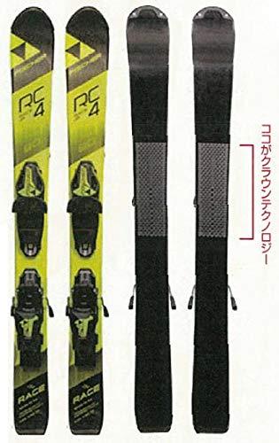 FISCHER(フィッシャー)RC4 レースクラウン JR 日本限定モデル ジュニアスキー板 ビンディングセット 子供用 A39517/T80216 ブラック×イエロー