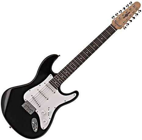 Guitarra Electrica LA Deluxe de 12 Cuerdas de Gear4music: Amazon ...