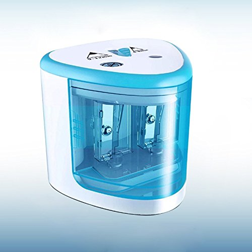 Electric Pencil Sharpener,Heavy duty Blades Durable and Portable Pencil Sharpener with Automatic Sharpens All Pencils for School Kids Children ,Blue Pencil Sharpener Electric Photo #1