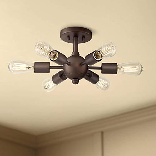Bronze Semi Flush Combo Mount - Bestla Mid Century Modern Ceiling Light