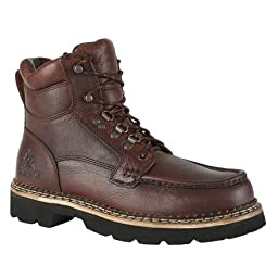 Rocky Men\'s Cruiser Lace-Up Casual Boot Dark Brown 13 D(M) US