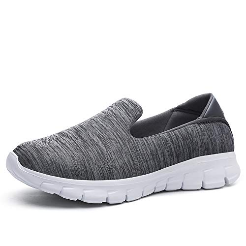 Zapatos grey Deporte de Moda GUNAINDMX dark Zapatillas Verano Slip Zapatos Primavera Redonda On Mocasines Casuales Punta de Shoes Invierno Mujeres 77pHXnOq4