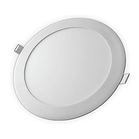 Downlight LED 18W DOOM by LEDESMA ESPAÑA, redondo plano, aluminio, color blanco, color 6000K: Amazon.es: Iluminación