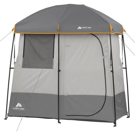 Ozark Trail 2-Room Non-Instant Shower Tent, Multicolor, Polyester/steel by OZARK