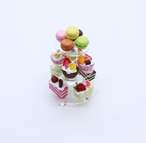 Mini Bakery Cake Dessert Wedding Display Dollhouse Miniature Handmade Food Supply Set 4