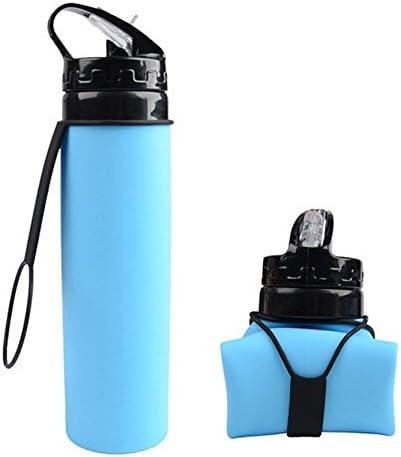 Voyage extérieur Réutilisable mon Friday Silicone Pliable Bouteille d/'eau 320 ml Bleu