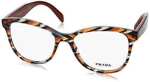 Prada Women's PR 12TV Eyeglasses Sheaves Grey Orange - 140 17 53 Glasses