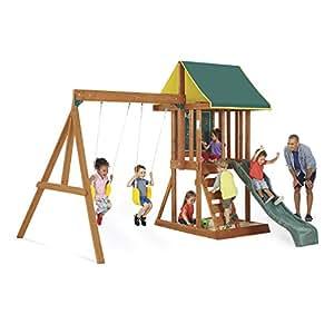 Amazon Com Kidkraft Big Backyard Appleton Wooden Swing