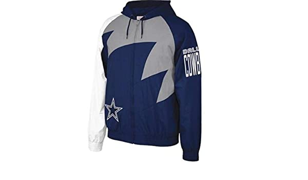 8107807be04 Amazon.com : Mitchell & Ness NFL Shark Tooth Jacket_Dallas Cowboys (2XL) :  Sports & Outdoors