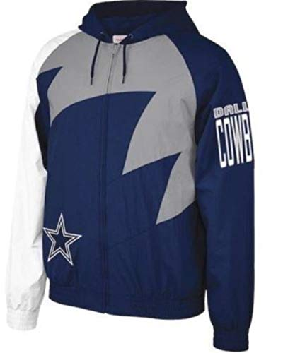Mitchell & Ness NFL Shark Tooth Jacket_Dallas Cowboys (L) (Mitchell And Ness Jacket)